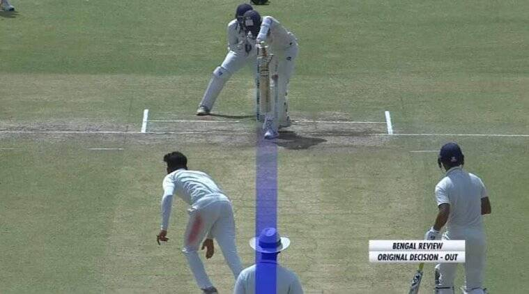 Drs without ball tracking abhimanyu easwaran dismissal out ranji trophy final