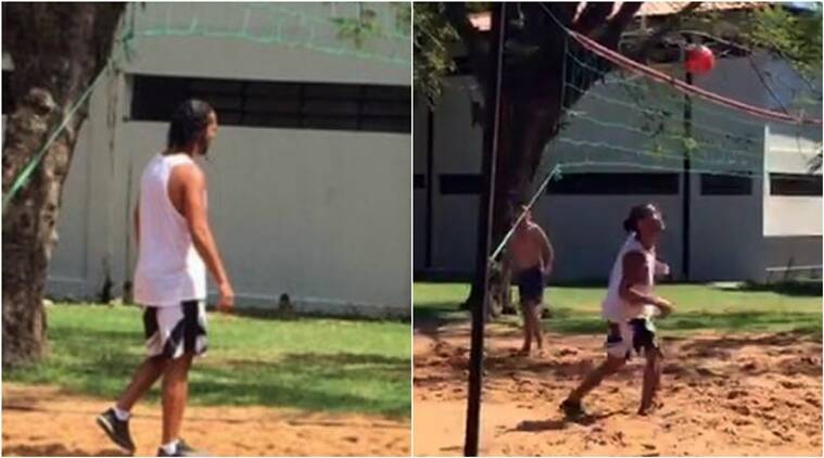 WATCH: After futsal, Ronaldinho makes most of prison life with foot-volleyball