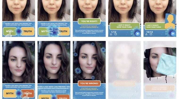 Fact or myth? Snapchat introduces a new game to bust coronavirus myths