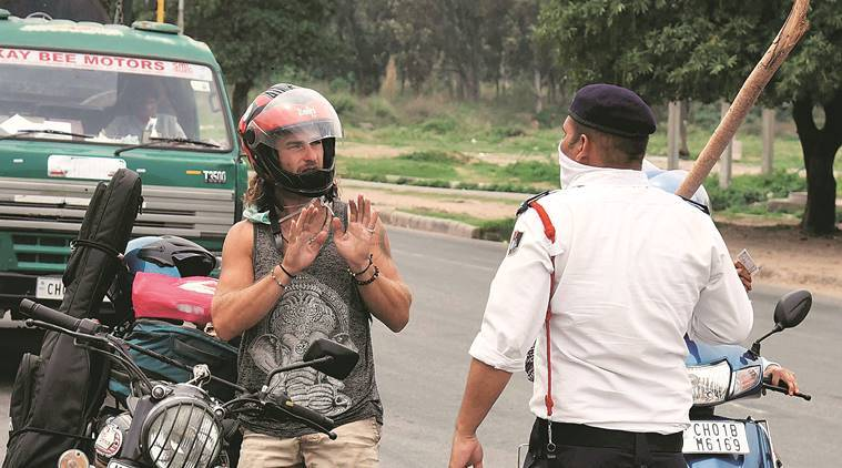 Chandigarh traffic police, Chandigarh traffic police challans, challans Chandigarh traffic police, Chandigarh news, Indian Express