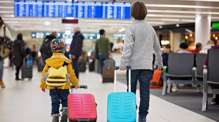 travelling with kids, international trip, parenting, indian express news