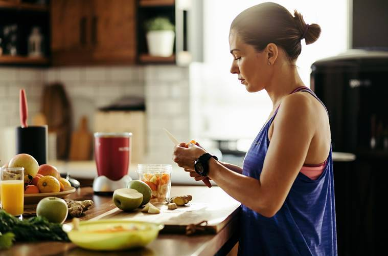 working from home, how to keep the weight in check when working from home, home workout routine, physical fitness, coronavirus, weight loss, indian express, indian express news