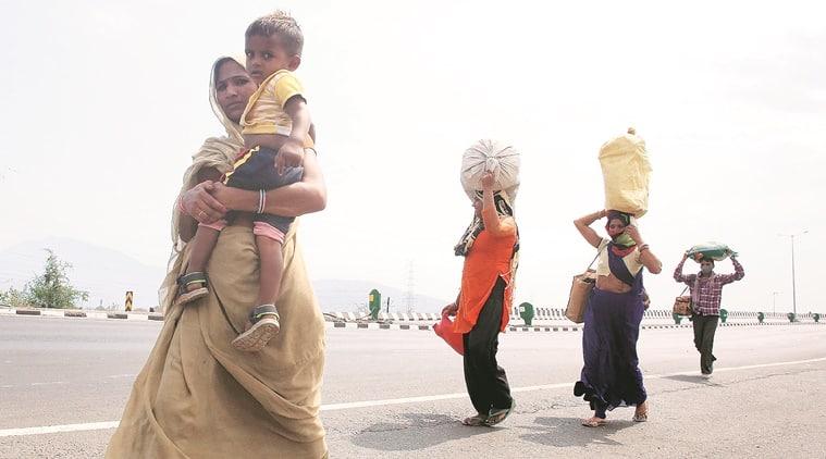 Uddhav Thackeray, migrant labourers, Maharashtra-Gujarat border, coronavirus lockdown, indian express news