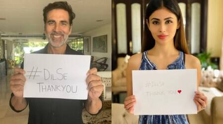 Akshay Kumar starts #DilSeThankYou initiative, Mouni Roy, Maniesh Paul join him