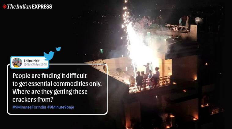 Indians outrage on social media after people light fireworks, lead processions after lights off