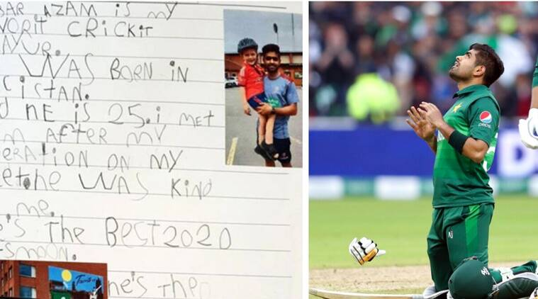 Babar Azam wins hearts with response to 5-year-old British fan's tribute