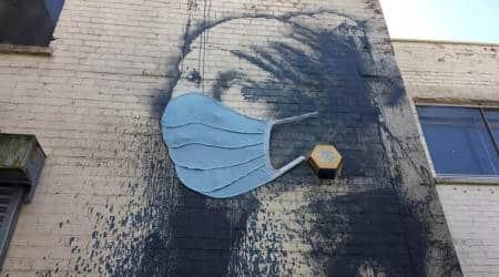 street artist Banksy, Banksy artwork makeover, Banksy graffiti makeover, Banksy art in Bristol, indian express, indian express news