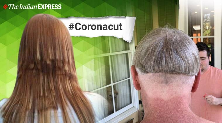 Coronacut, #Coronacut, quarantine hair cut, quarantine haircut fail, lockdown hairstyle, quarantine hairstyle, Coronavirus lockdown, Coronavirus pandemic, COVID-19, Trending news, Indian Express news
