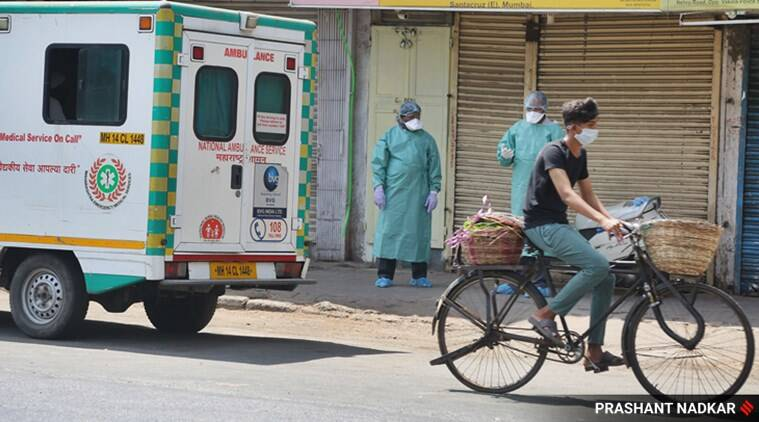 Mumbai coronavirus cases, coronavirus cases Mumbai, Mumbai COVID-19 cases, COVID-19 Mumbai, COVID-19 cases Mumbai, Mumbai news, city news, Indian Express