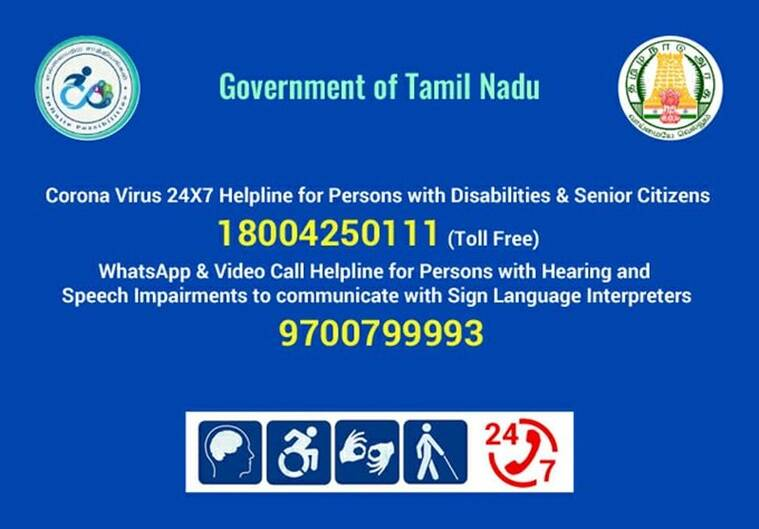 list of helplines for persons with disability, PwDs, indianexpress.com, lockdown assistance, lockdown, right of persons with disability, disabled helplines amind covid-19, coronavirus, lockdown, disability, disabled people,