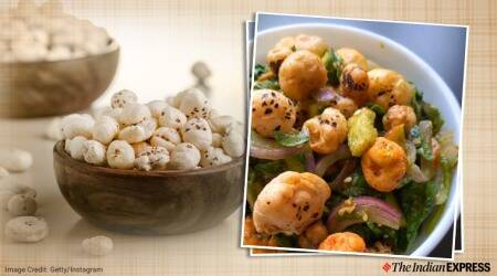 Ghee Roast Makhana Bhel, Makhana, foxnuts, makhana bhel, indianexpress.com, indianexpress, foxnut bhel, foxnuts benefits, saransh goila recipes, saransh goila news, saransh goila dishes, snacks,
