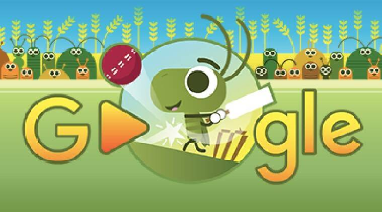 google stay and play at home doodle all about google s cricket doodle technology news the indian express google stay and play at home doodle