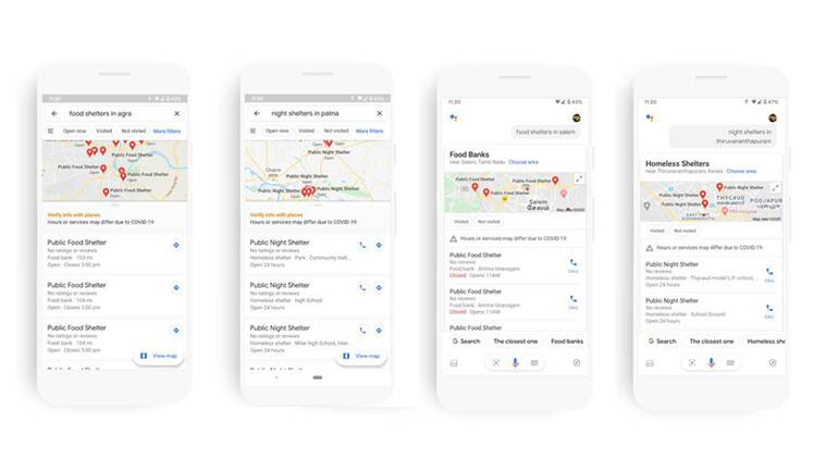 Google Maps, Search and Assistant to now show locations of COVID-19 food, night shelters in India