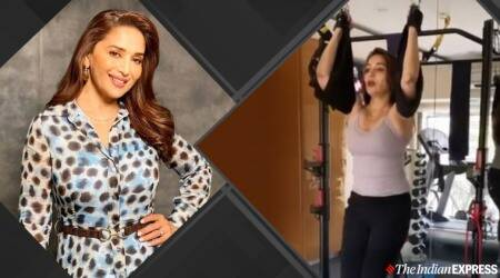 madhuri dixit, madhuri dixit nene, madhuri fitness,madhuri glow, beautiful madhuri pics, madhuri dixit dance, how does madhuri manage to stay fit, fitness goals, madhuri dixit age, indianexpress.com, indianexpress,