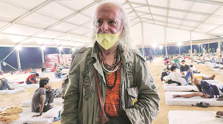 Mumbai: At Versova camp, a Spaniard waits for a flight home