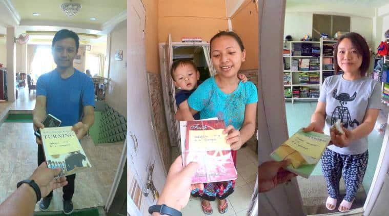 Mizoram library, door-to-door