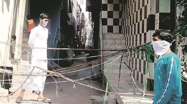 In South Delhi slum with two cases, strict checking on roads, fear in homes