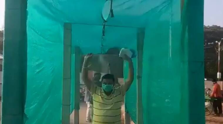 WATCH: To fight COVID-19, Mysuru installs 'disinfection tunnel' at entrance of grocery markets