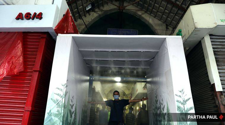 Kolkata gets its first 'disinfectant tunnel' at iconic New Market