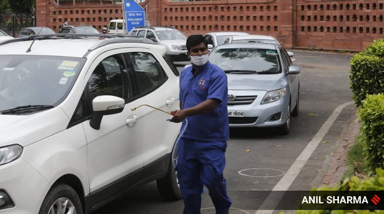 Coronavirus, Lok Sabha housekeeping staff tests positive, Lok Sabha coronavirus, covid-19, delhi news, Indian express