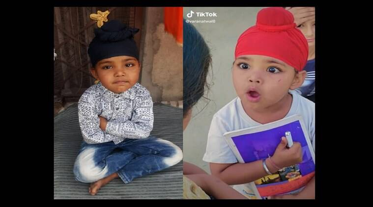 Punjab S New Tiktok Star Is A 5 Year Old Sardar Who Is A Girl Cities News The Indian Express