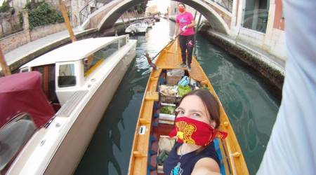 Venice, gondola rides, Row Venice, Venice women supplying essentials, Italy, indian express, indian express news