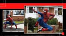 Two martial arts teachers dress as Spiderman to cheer up kids in England amid coronavirus lockdown