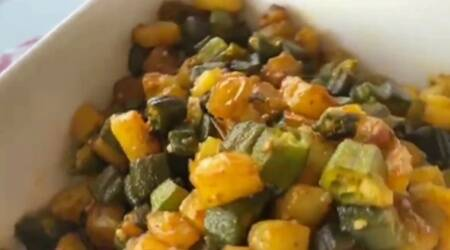 aloo bhindi sabzi, bihar cuisine, special recipes, indianexpress.com, indianexpress, amrita raichand, chef amrita raichand, survival recipes, aloo bhindi sabzi, how to make aloo bhindi, amrita raichand recipes, bihari dishes,