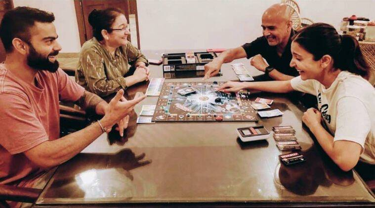 Anushka Sharma and Virat Kohli enjoy a game of monopoly amid lockdown