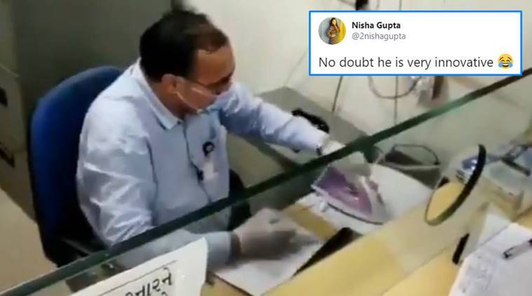 Banker's 'creative' method to disinfect cheque leaves netizens impressed