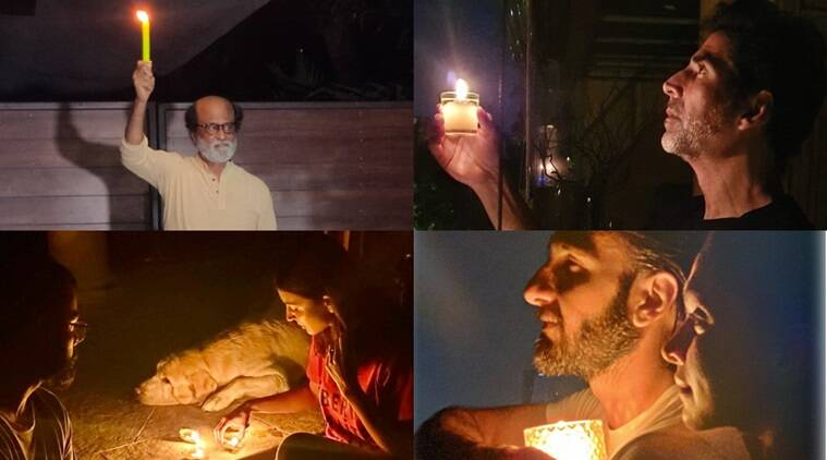 Rajinikanth, Ranveer, Akshay and others participate in PM Modi's light-a-candle initiative