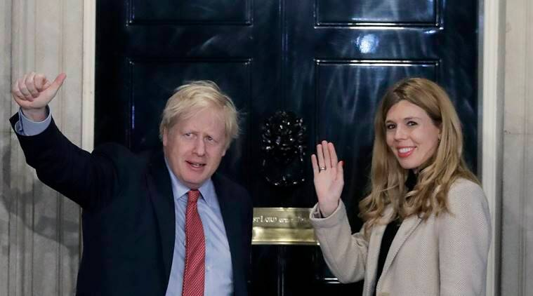 british PM boris johnson baby, boris johnson baby named after coronavirus doctors, boris johnson baby, boris johnson partner Carrie Symonds, britian coronavirus, britain news, coronavirus news, indian express news