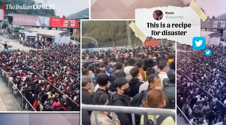 Viral Video: Thousands throng tourist spot in China after easing of lockdown