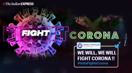 """Ministry of Railway, """"Break the Outbreak Song"""", Railway Ministry's """"Break the Outbreak Song"""", Ministry of Railway Twitter, Railway ministry coronavirus awareness song, Coronavirus, Coronavirus pandemic, COVID-19, Trending news, Indian Express news"""
