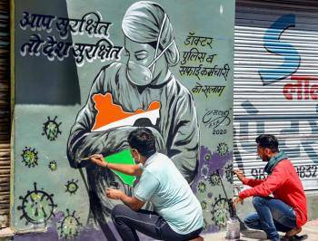 Coronavirus Inspired Murals And Public Art From Around The Globe Trending Gallery News The Indian Express