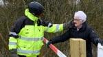 Love in the time of coronavirus: Elderly couple meet at Danish-German border daily