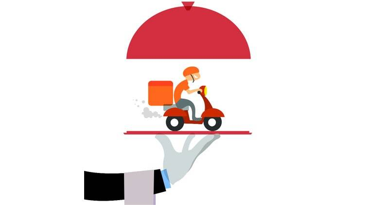 online delivery, essential items, cashless transaction, Ahmedabad news, Indian express news