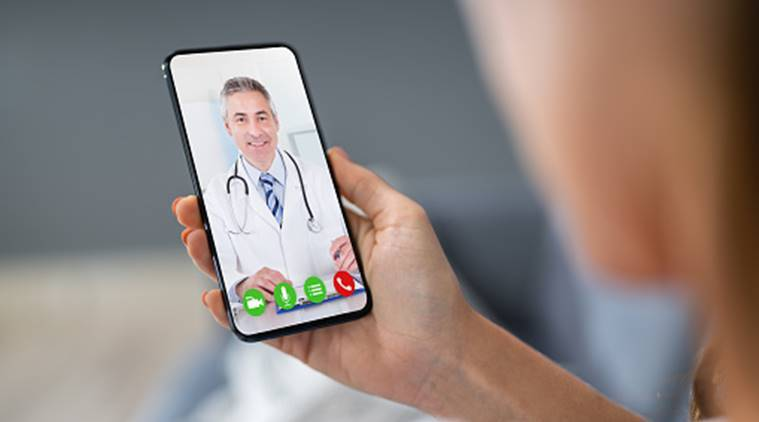 telemedicine, video calling with doctor