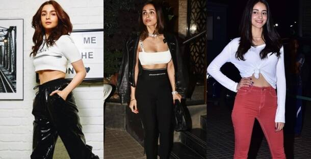 celebrities crop tops, summer styling, malaika arora, janhvi kapoor, shilpa shetty, priyanka chopra, crop tops in summer, indian express, indian express, indian express news