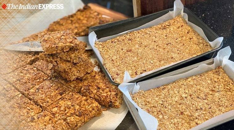 quick and easy energy bars, indianexpress.com, indianexpress, flapjacks, rolled oats, chef vineet bhatia, vineet bhatia, date energy bars, energy bars, what are energy bars, easy recipes, lockdown, coronavirus,