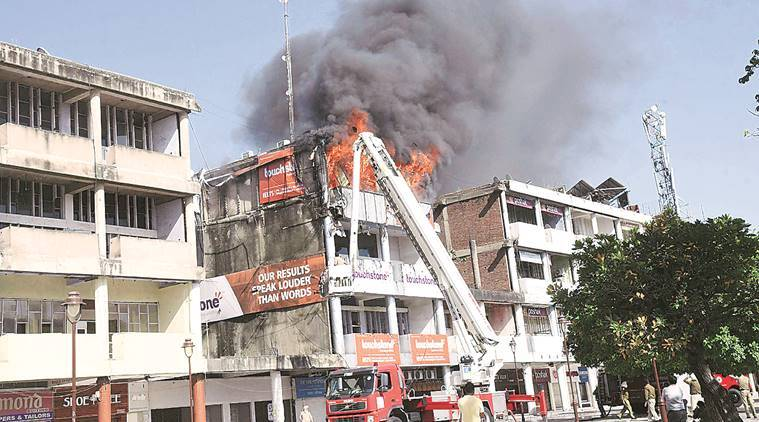 Chandigarh: Fire breaks out at IELTS coaching centre