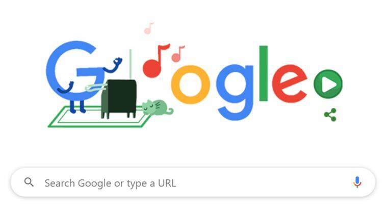 google doodle, google throwback doodle, google stay at home game doodles, clara rockmore, theremin clara rockmore, doodle clara rockmore theremin, indian express