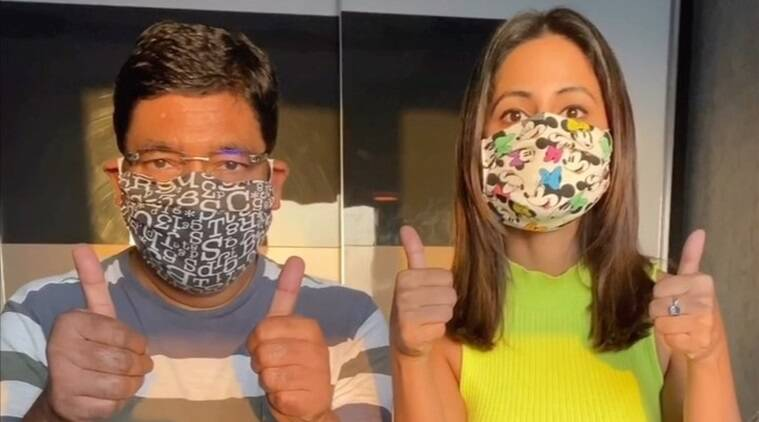 Hina Khan shares a tutorial on making masks, watch video