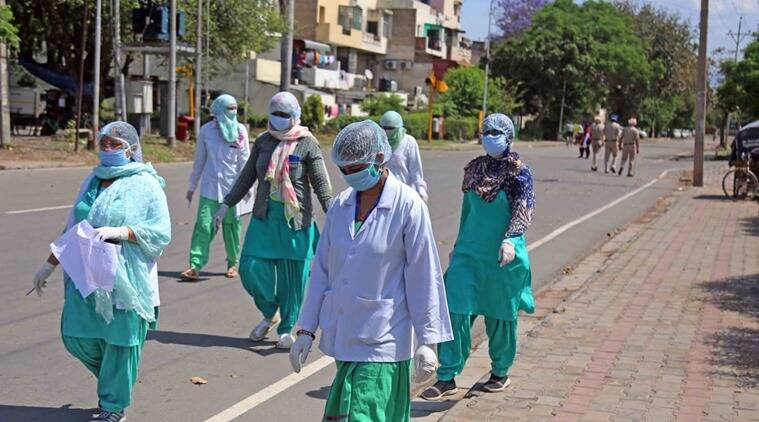 Indian Medical Association, IMA protest, Health workers, Coronavirus cases, chandigarh news, indian express news