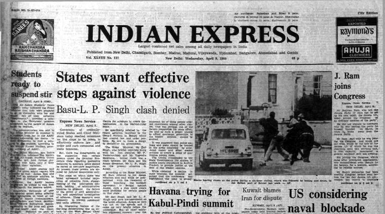 Forty Years Ago, April 9, 1980: Counter to violence
