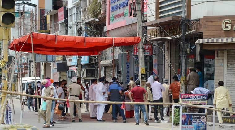COVID-19, COVID-19 India, COVID-19 India Outbreak, COVID-19 Jalandhar, COVID-19 Jalandhar Outbreak, COVID-19 Jalandhar Lockdown, COVID-19 Jalandhar Cases, COVID-19 Jalandhar Deaths, Jalandhar Lockdown Violations, Jalandhar Police, Old GT Road, Jalandhar Rehris, Jalandhar Deputy Commissioner, Varinder Kumar Sharma, Jalandhar Social Distancing, Jalandhar Villages, Jalandhar Villages COVID-19, Jalandhar Villages Social Distancing, Sikanderpur, Sikanderpur COVID-19, Jalandhar COVID-19 Hotspot, Jalandhar Lockdown Passes, Jalandhar Passes, Jalandhar News, Indian Express News
