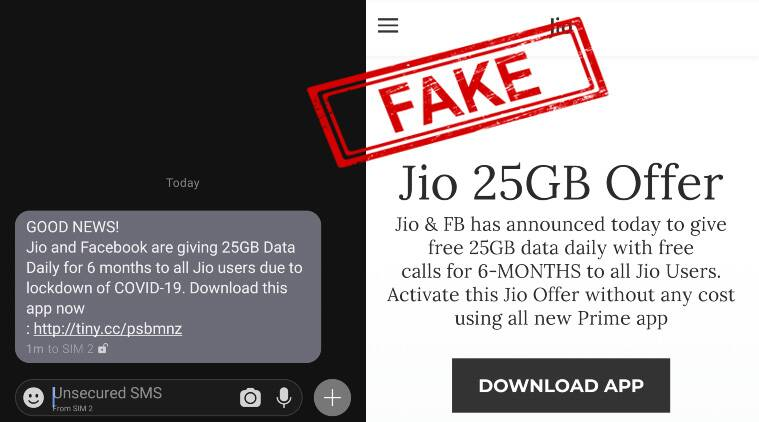 Jio, Facebook giving free 25GB daily data for 6-months? Beware, it's a new COVID-19 scam