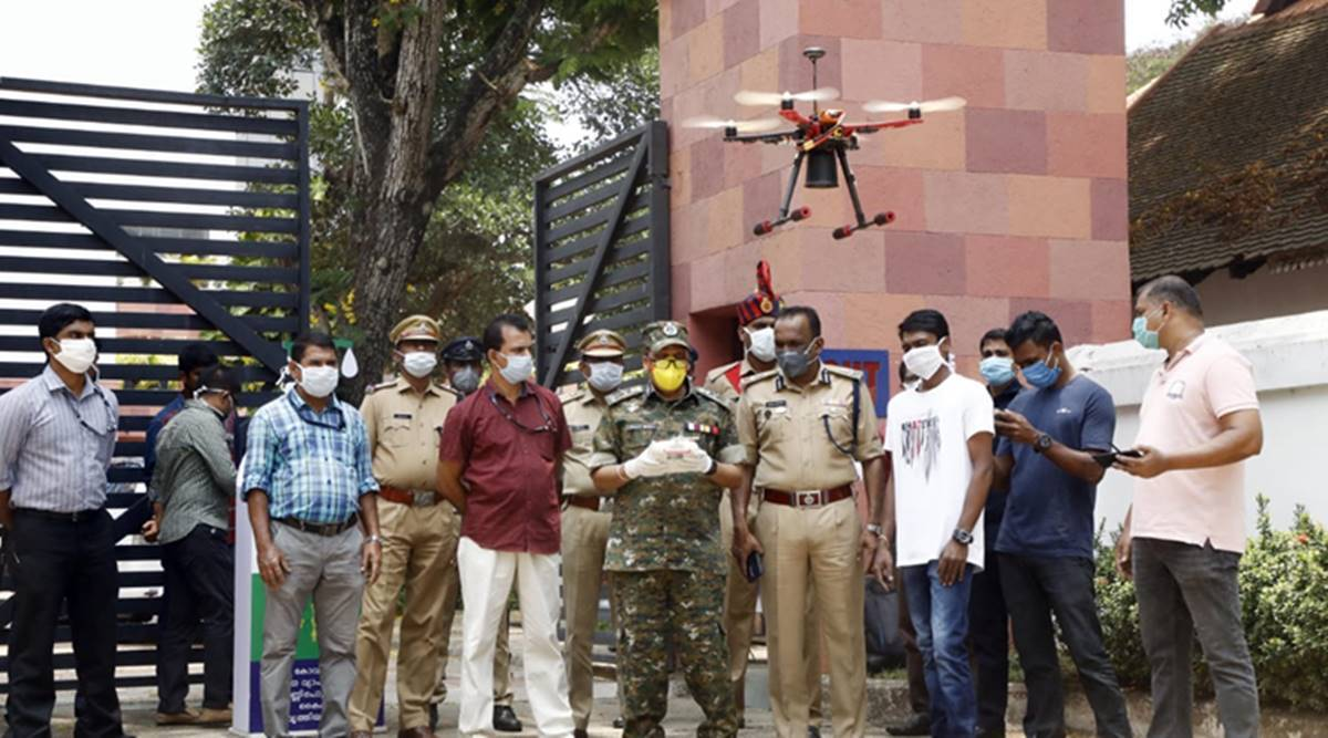 Eagle in the sky: Drone operators and Kerala Police are a winning ...