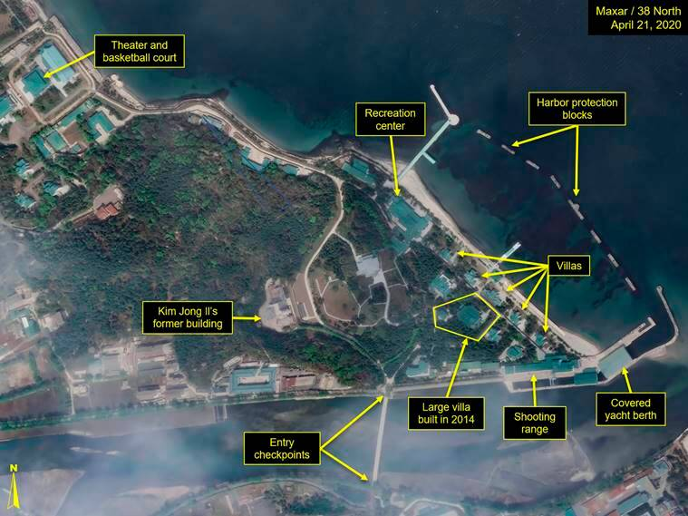 Satellite images of luxury boats further suggest Kim Jong Un at favoured villa