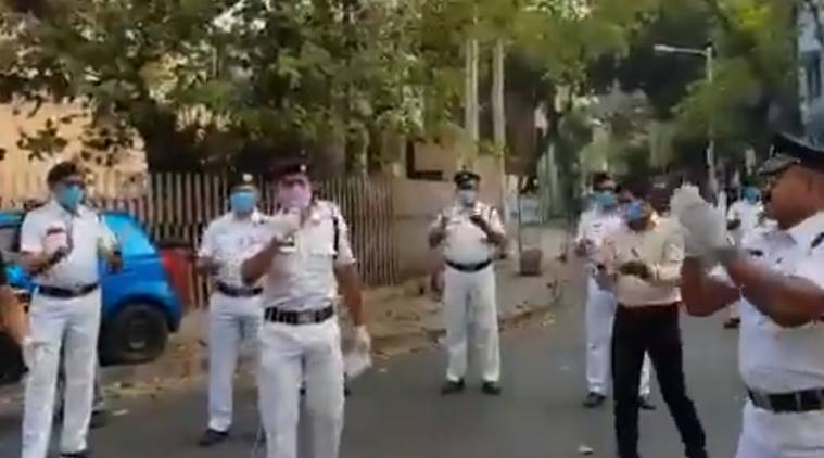 Watch: Kolkata cop dons singer's hat to cheer locked down people